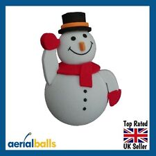 Cute Snowman Car Aerial Ball Antenna Topper or use as a Dashboard Wobbler
