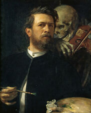 Self-portrait with Death playing the fiddle Arnold Böcklin muerte violín B a3 00673