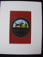 """Vintage 1920's Mounted Single Swap Playing Card - """"The Winner"""" Gramophone Record"""