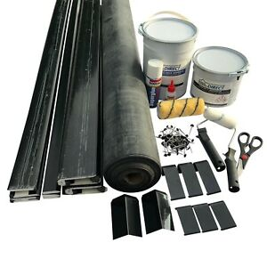 EPDM Rubber Roofing Kit For 3 Sided Flat Roofs All Sizes Available -50 Year Life