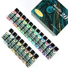 Metallic Acrylic Paint Set of Premium 20 Colors Rich Pigments of Non Fading