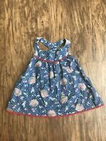 Matilda Jane Baby Girl Toddler Size 2 Getaway Cherry Tunic Dress Blue