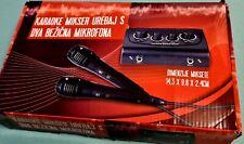 Karaoke Set 2 Mikrofone Mixer aux Musik Anlage Verstärker Stereo klinke