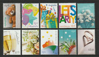 Australia 2020 : Joyful Occasions. Set of 10 Decimal Stamps, Mint Never Hinged