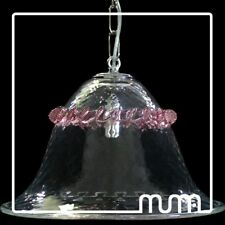 Suspended Lights Glass Murano Clear And Pink (Color Choice)