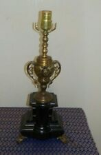 Beautiful  Neoclassical Trophy Urn  Table Lamp Solid Brass & Heavy Marble