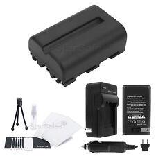 NP-FM500 Battery + Charger + BONUS for Sony Alpha SLT-A58 A57 A99 A100 A560 A580