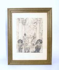 Erotische Kunst Radierung um 1910 - 1925 Frankreich