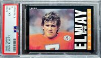 1985 Topps John Elway 2nd year card, PSA 6. HOF, All-time Great! Nicely Centered
