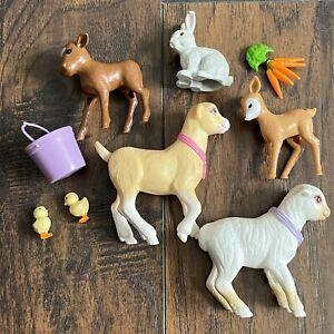 Barbie Stable Friends Farm Animal 1998 Mattel Nibbles Goat Bunny Sheep Chicks