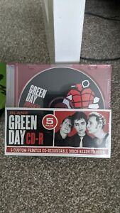 Green Day Blank CD-R 5 Pack Custom Printed Photo Covers Ready to Burn NEW Sealed