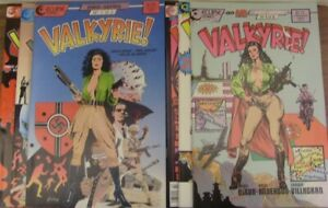 VALKYRIE 1-3 MINI SERIES 1 & 2 ECLIPSE COMIC SETS COMPLETE DIXON GULACY 1987 VF+