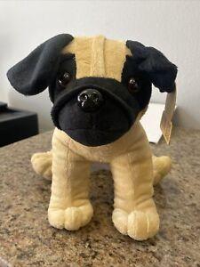 "animal adventure 2020 bulldog plush toy 11"" nwt brown/black"