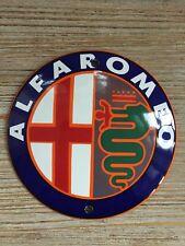Alfa Romeo enamel sign 10cm diameter