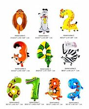 Animal Numbers Balloons Ideal Birthday Decoration Kids Party