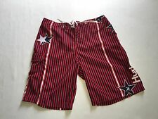 "Hurley Mens Red White Blue Stars Stripes Boardshorts MB04SP Sz ~XL (18"" Across W"