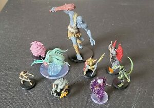 D&D Icons of the Realms Mixed Lot of 9 Minis Dungeons and Dragons Wizkids