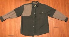 Cabelas Button Front Shooter Shirt Youth  Right Handed Hunting Green medium 14