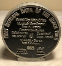 Vintage First National Bank of the Black Hills Promotional Coin Bank