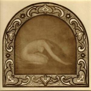 Adelaide Hanscom - Endplate - Woman Bowing 1905 Tissue Photogravure - Rubaiyat