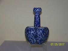 Chinese Qing Dy Kangxi Mark Blue & White Garlic Head Tulip Vase