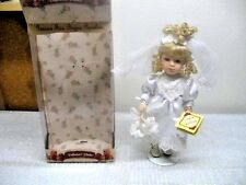 "Collectors Choice Genuine Fine Bisque Porcelain 14"" Doll (BRIDE)  DanDee Series"