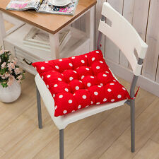 Home Chair Office Seat Pads Tie on Cushion Garden Kitchen Dining Soft Removable