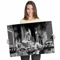A1 - Times Square New York City 60X90cm180gsm Print BW #38163