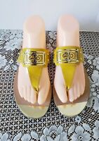Isola Women's Alary II Saffron Yellow Patent Thongs Sandals Shoes size 8.5 M
