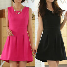 Chiffon Patternless Round Neck Casual Dresses for Women