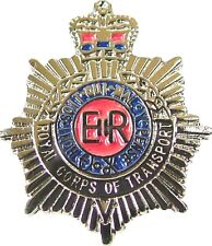 RCT ROYAL CORPS OF TRANSPORT CLASSIC HAND MADE IN UK  PLATED LAPEL PIN BADGE