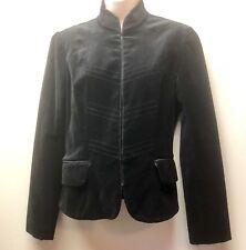 New Mossimo Womens S Black Steampunk Goth Victorian Stretch Velvet Jacket Blazer