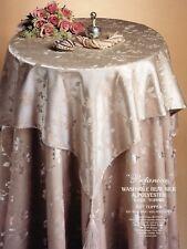 Cream Silk / Polyester 86 x 86cm Table Cloth