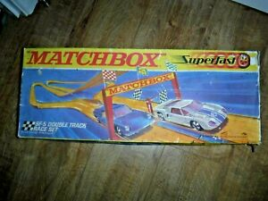 Matchbox Superfast SF-5 Double Track Race Set Boxed Vintage Lesney 1970 + 9 Cars