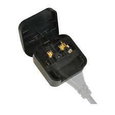 2 Pin Euro Plug to 3 Pin UK Mains Adapter -  3 Amp - BLACK. (652)
