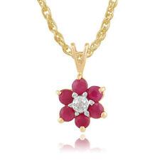 Heating Diamond Ruby Fine Necklaces & Pendants