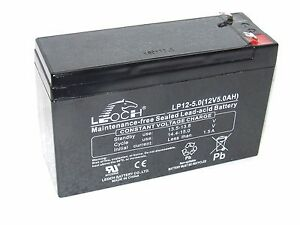 12v LP12-5.0  12 volt 5Ah Rechargeable Sealed Lead Acid Battery PS-6120 / PS-610
