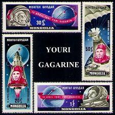 MONGOLIE N°193/196** Espace Youri Gagarine TB, 1961 MONGOLIA Space #232-35 MNH