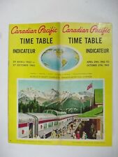 TIME TABLE / SCHEDULE (36 pages): CANADIAN PACIFIC INDICATEUR TRAIN    1962