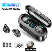 Mini Bluetooth 5.0 TWS Wireless Earphones Headset Earbuds Stereo Dual Headphones