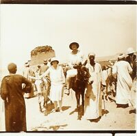 EGYPTE Voyage Européen ca 1910, Photo Stereo Plaque Verre PL59OY2