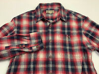 DULUTH TRADING CO Mens Shirt Size L 2 Pocket FLANNEL Long Sleeve Button front