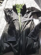 LULULEMON Super Tracker Hooded Jacket Gray Lime Green Lining
