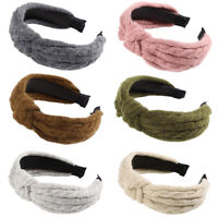 Women's Tie Headband Hairband Woolen Autumn Hair Hoop Band Accessories Headwear