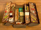 1950 Vintage Falls City Fishing Tackle Box Filled With Vintage Lures & Tackle