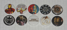 "IRON MAN 10 Button Set 1 "" Inch - Pins The Avengers Stark Super Hero Gift Idea"