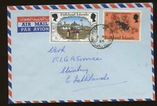 FALKLAND Is 1984 INTERNAL COVER COMMEMS FRANKING 6p