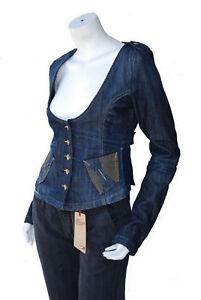 blouson veste jeans femme FORNARINA taille M ( T 38 )
