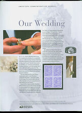 #3998 39c Our Wedding Dove Stamp USPS #758 Commemorative Panel