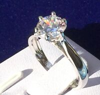 Women ring: simulated diamond 925 Sterling silver Engagement Ring, Xmas gift